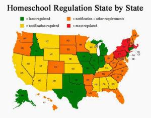 Homeschool Regulation Map